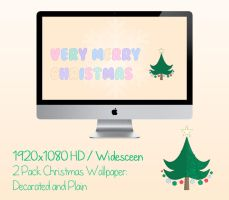 Very Merry Christmas Stitched Wallpaper 1920x1080 by cupcakekitten20