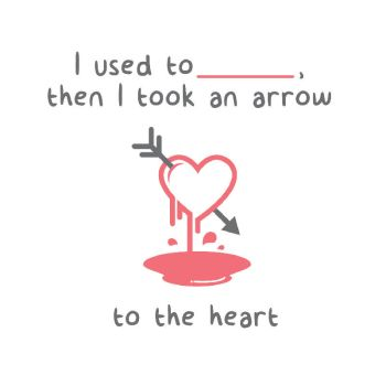 Valentine's Day Card/Message - Arrow to the Heart by DarkoDesign
