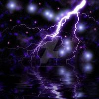 Fantasy Space Storm Premade Background by XWykydWytchX