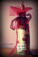 Roses botel of wine by KaoriArt