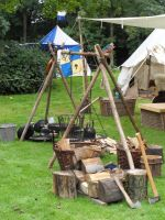 Medieval camp life by Kroenen1488