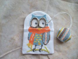Owl scissor holder and fob. by Magical525
