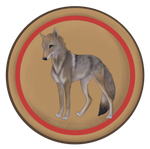 Camp Badges: Coyote Tribe by Tattered-Dreams