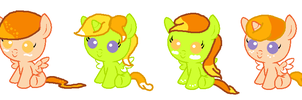 Orange Creme and Sour Sweets Foals by vega37