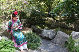 Chinese  costume 386 by fa-stock