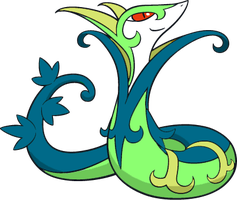 Shiny Serperior : DW Art by Muums