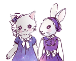 Kitten and Bunny by gurliebot