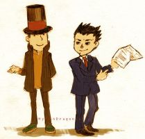Layton vs Ace Attorney by HylianDragonCatty