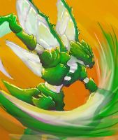 Scyther Slash by dragonrage-