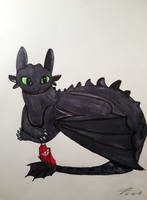 Toothless by AllysonCarver