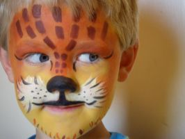lil' tiger face 4- my nephew by alteredboxes