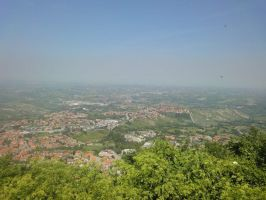 The view from San Marino by Tigrite