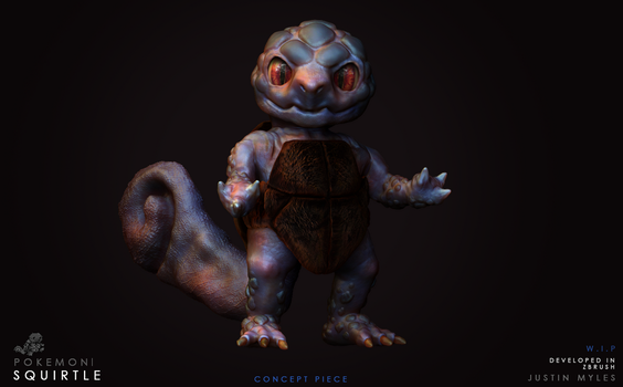 My Personal Vision Of The Pokemon Squirtle. by JustinTheEnd