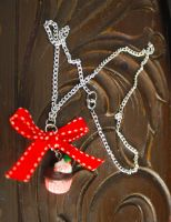 Christmas Cupcake Necklace by BrysheyrasGifts