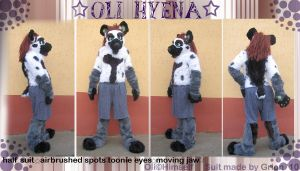 Oli hyena fursuit by Grion