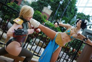 Street Fighter Star Wars, Chun Leia and Cammy Fett by Malicious-Cosplay