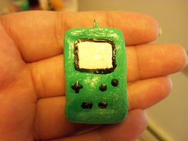 Green Gameboy Color charm by TashaAkaTachi