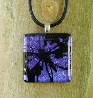 Purple Cutaway Butterfly Glass by FusedElegance