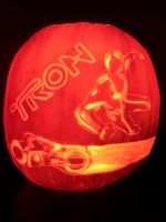 tron pumpkin for contest by melie97