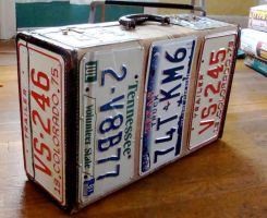 License Plate Suitcase by aldosart
