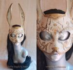 War Torn Splicer Bunny Rabbit Mask by Angelic-Artisan