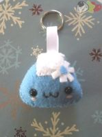 Winter Onigiri Keychain by LiLMoon