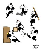 Action Pandas by greenfairy87