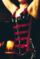 Red and Black Corset by TheModelElizaByte