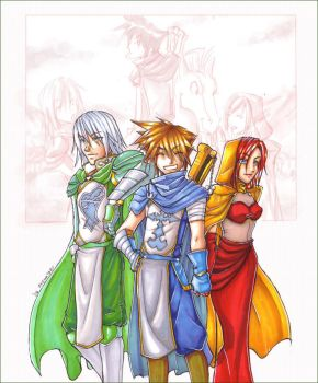 KH - Lord, Knight and Lady by akewataru