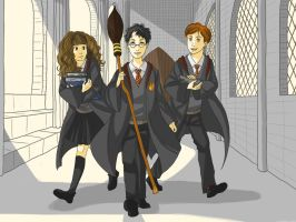 The Golden Trio - First Year by EtaCephei