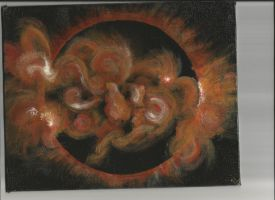 x-ray of our sun painting by paintingmama
