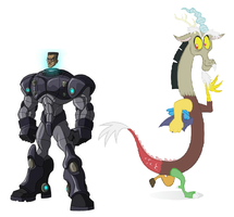 Baxter Stockman and Discord by DinobotEd