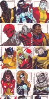 Marvel Sketch Cards by denart