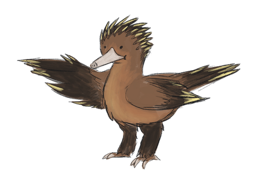 Combining ifferent animals - Nightingale + Echidna by Chipflake