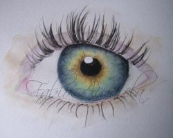 watercolor eye by FabioAcuarela