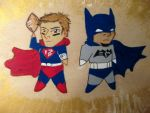 Super-Brady and Bat-Watson by tennyoceres