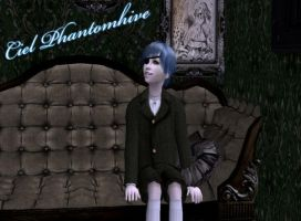Ciel Phantomhive in Sims 2 by NegativeDanna