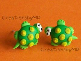 turtles fimo earrings by CreationsbyMD