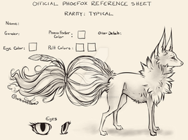 Typical Phoefox MYO Reference Sheet (NOT OPEN) by MischievousRaven