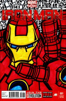 Iron Man Cover side A by MindMage