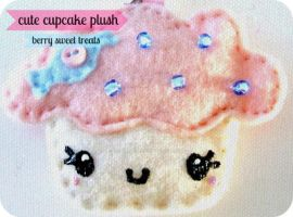 Pink Punch Cupcake Keychain by SabrinaDeeBerry
