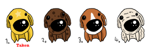 Dog Adotables by valurauta