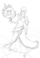FF14 Mycharacter Astrologian Lineart by nfouque