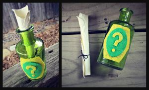 Sly Cooper Clue Bottle Replica by Artistry-Blade