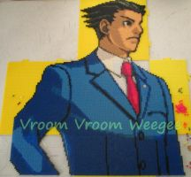 Phoenix Wright - bead by VV-Weegee