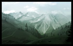 Mountains of Pine by teknopaint