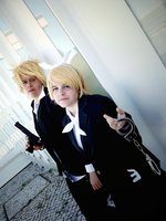 Rin and Len - Secret Police by AJMomo