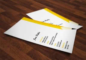 Personal Tutor Pencil Business Cards by es32