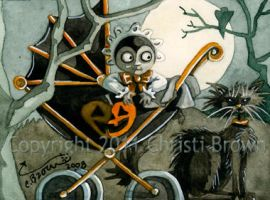 Halloween Baby Buggy ACEO by candcfantasyart