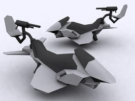 Nod Hover bike 'black shark' by FF-Design